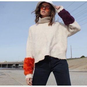 Zara Creamy Wool Blend Knitted Turtleneck